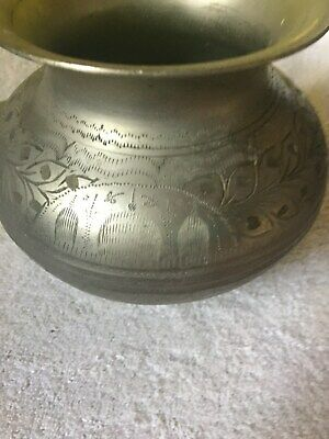 Antique ASIAN   VASE Country Primitive silver  or PREWTER  ?????