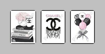 Coco Chanel Print Picture Fashion Perfume Wall Art Home Decor Bedroom Gift A5 x3