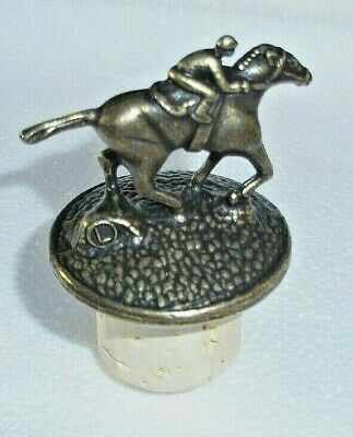 Blantons Bourbon Whiskey Letter L Horse Jockey Stopper Cork New Rare
