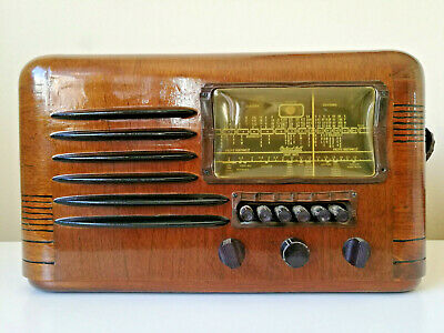 GRANDPA'S ATTIC! Stunning Condition Antique Packard Bell Tube Radio 35-n DELUXE!