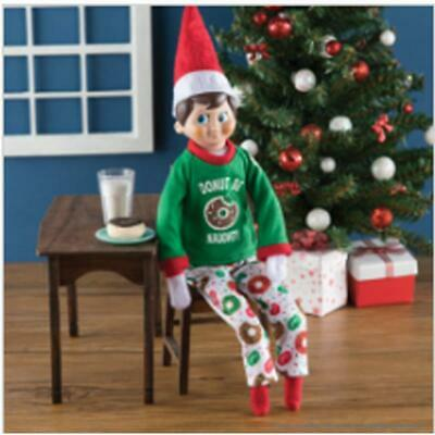 NEW 2019 Elf On The Shelf Claus Couture Scout Elf Donut Be Naughty Pajamas