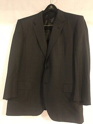 OXXFORD CLOTHES Charcoal Gray PinStriped 100% Wool Jacket Pants SUIT Mens - 46R