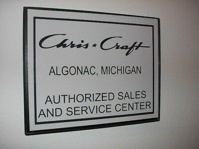 Chris Craft Boat Auth.Parts Garage Framed Advertising Print Man Cave Sign
