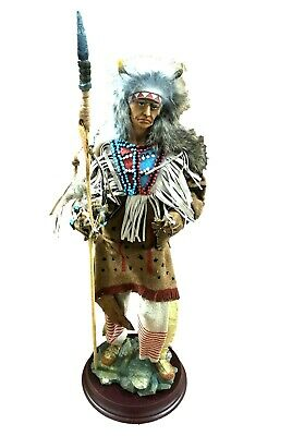 """Standing Native American Indian Statue Figure Western 16"""" Tall NEW Free Shipping"""