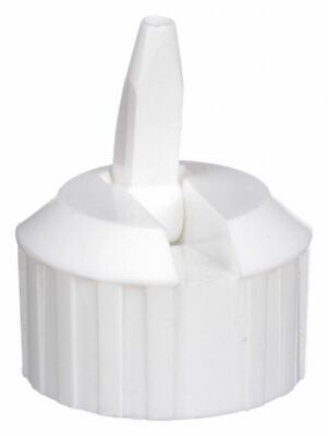 Qorpak Polyethylene (PE) Dispensing Narrow-Mouth Dispensing Cap, White, 12 PK