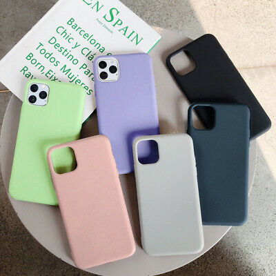For Apple Silicone Case iPhone X XR XS MAX 11 Pro 8 7 Plus Slim TPU Soft Rubber