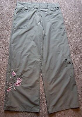 Ladies embroidered wide leg Trousers Size 14 From Select