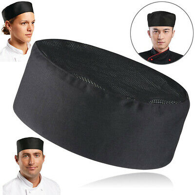 Catering Hat Professional Chefs Mesh Top Skull Cap Restaurant Kitchen Chef AU