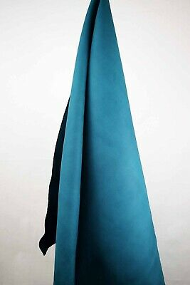 Teal Brushed Italian Leather Hide APX 2m2 2mm thick