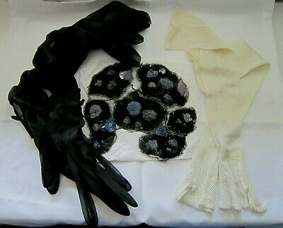 small lot ofvintage /retro women's clothing accessories, gloves, lace,