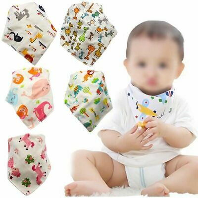 Cotton Baby Bandana Bibs Double Snap For Scarf Boys Girls Stock Seja