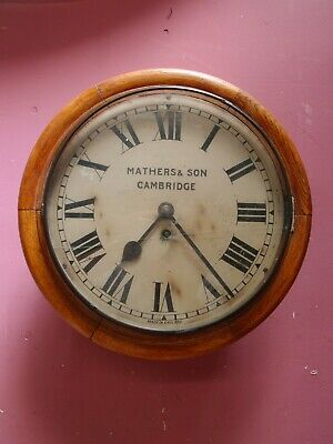 ANTIQUE EARLY 1900's OAK CASED FUSEE WALL DIAL CLOCK RESTORATION PROJECT