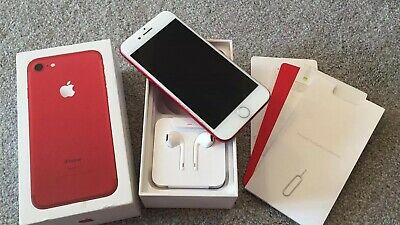 Apple iPhone 7 (PRODUCT)RED - 128GB - (EE) A1778 (GSM) Limited Edition Red