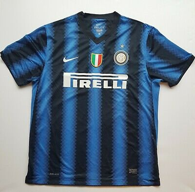 Inter Milan 2010/11 Extra Large Home Shirt with Scudetto badge by Nike.