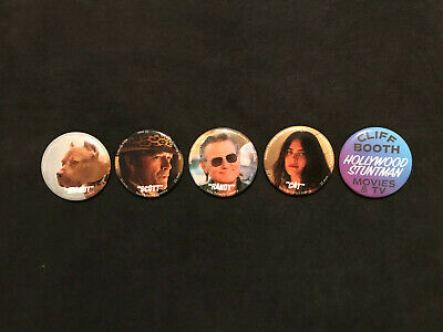 ONCE UPON A TIME IN HOLLYWOOD Character Buttons NEW BEVERLY CINEMA TARANTINO