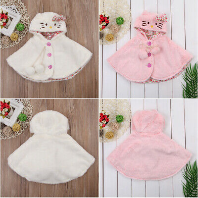 AU Newborn Baby Girls Hooded Cloak Poncho Jackets Outwear Kids Coats Tops 0-24M