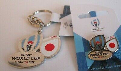 NEW Nickel RWC 2019 Rugby World Cup 2019 JAPAN Keyring + Pin Badge