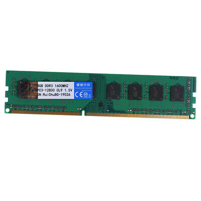 8GB DDR3 1600MHz 240pin 1.5V DIMM RAM Desktop Memory Supports Dual Channels LLP