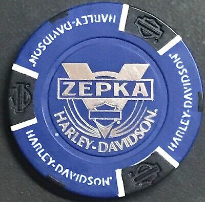 Zepka Harley Davidson® in Johnstown, PA Collectible Poker Chip Blue/Black NEW