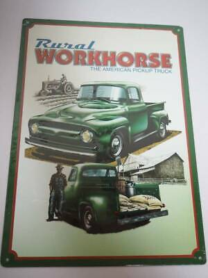 RURAL WORKHORSE Metal Sign the american pickup truck chevy farm tractor