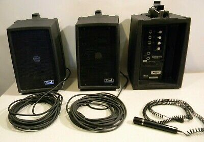 Anchor Audio PortaVox Pb-500 Portable PA System W/ Speakers Microphone Charger