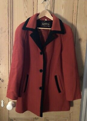 Vintage Orange Wool Coat Size 14 (David Barry)