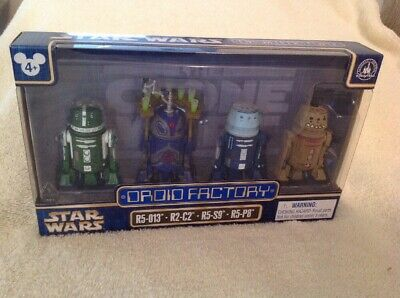 Star Wars Disney Parks Droid Factory Clone Wars 4 Pack R5-013 R2-C2 R5-S9 R5-P8