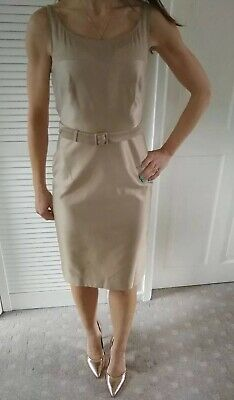 DESIGNER L.K.Bennett Gold Mother Of the Bride Races Special Occasion Outfit 6 UK