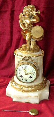 Excellent French 8 Day Striking Ormolu & Marble Clock By Vincenti.