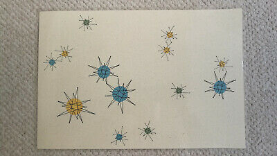 Franciscan Starburst retro atomic mid century laminated placemats - Set of two