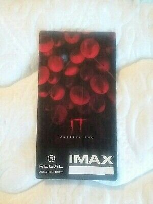 It Movie Chapter 2 IMAX Regal Collectible Ticket  # Out Of 1,000 Chastain Hader