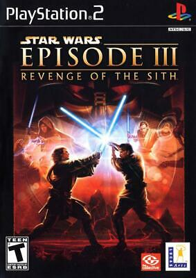 Star Wars Revenge Of The Sith PS2 Playstation 2 Game Complete