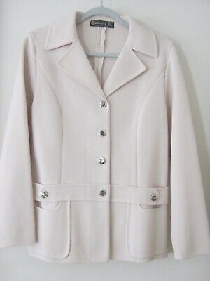 Spinelli vintage cream pure new wool knit jacket size 38