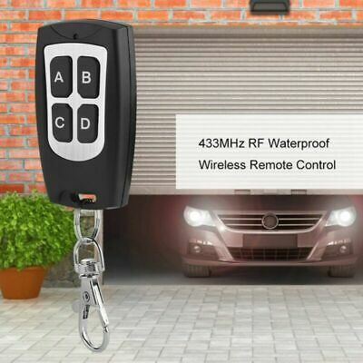 433MHz 1~4 Buttons RF Waterproof Wireless Remote Control Transmitter