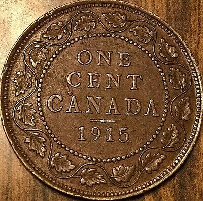 1915 Canada Large Cent Penny Large 1 Cent Coin
