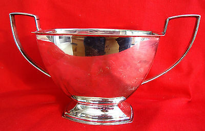 Antique Classic Style Cameo Silver Plated Epns Twin Handle Sugar Bowl Pedestal