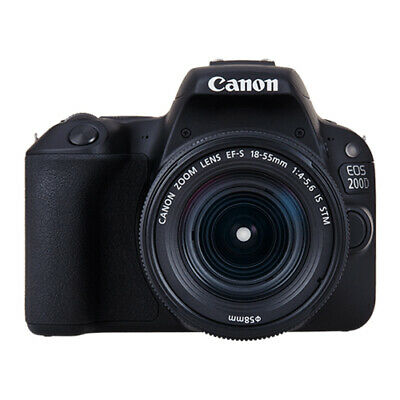 Canon EOS 200D with 18-55mm IS STM Lens Kit Black (Multi)