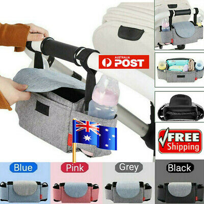 Baby Organiser Cup Bottle Holder Mummy Bag Storage Buggy Stroller Pram AU