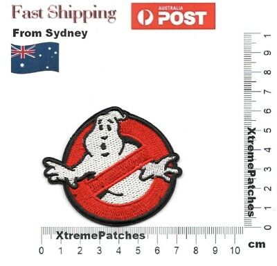 GHOSTBUSTERS Classic Movie 1984 Costume Embroidered Iron-on Sew Patch #1049