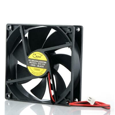 90mmx90mm 12V 2 Pin Cooling Fan Silent Cooler Radiator For Computer PC CPU Case