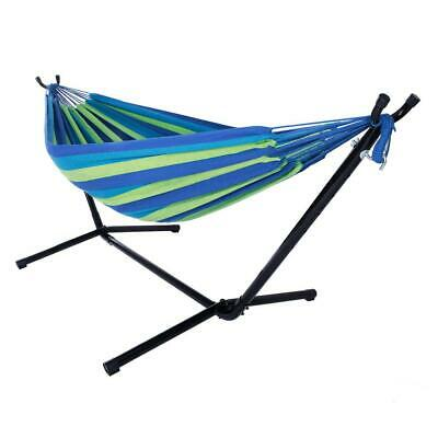Cotton Rope Hanging Hammock Swing Camping Canvas Bed w// Heavy Duty Strap /& Hook
