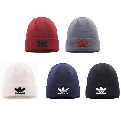Adults Beanie Mens Womens Hats Warm Winter Embroidery Knitted Wool Hat On Sale