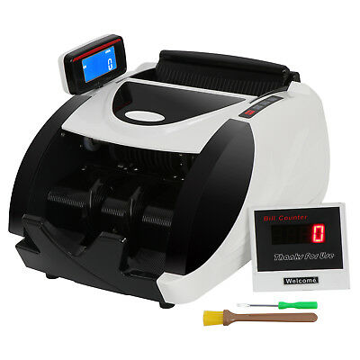 Used Money Bill Counter Machine Cash Counting Counterfeit Detector Checker UV MG