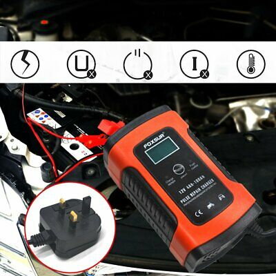 12V Automatic Electronic Intelligent Smart Fast Battery Charger Car Motorbike 5A