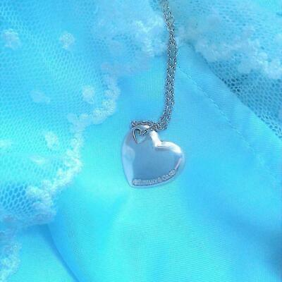 Tiffany & Co. Authentic Sterling Silver 925 Pierced Double Two Hearts Necklace