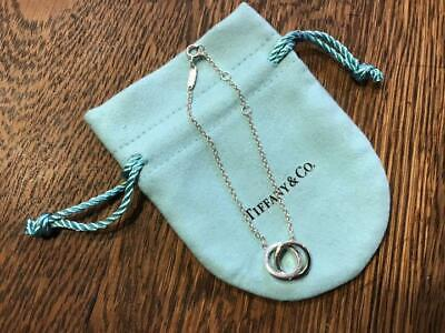 Tiffany & Co. 1837 Interlocking Circles Bracelet Authentic Sterling Silver 925