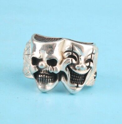 China Solid Silver Hand-Carved Devil Exclusive Custom Ring High-End