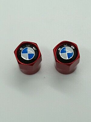 BMW Red Tyre Valve Caps Dust Caps Motorbike Motorcycle S1000R K1200 S R Nine T