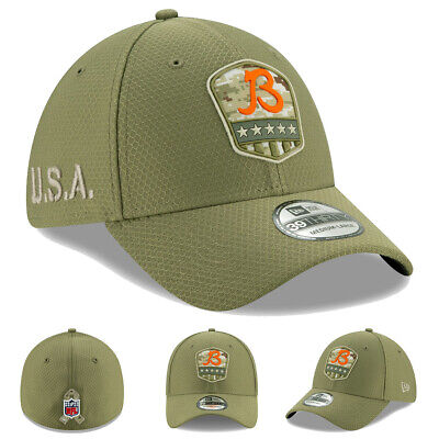 NEW 2019 New Era Chicago Bears B Salute to Service Hat Cap 39THIRTY Flex STS NWT