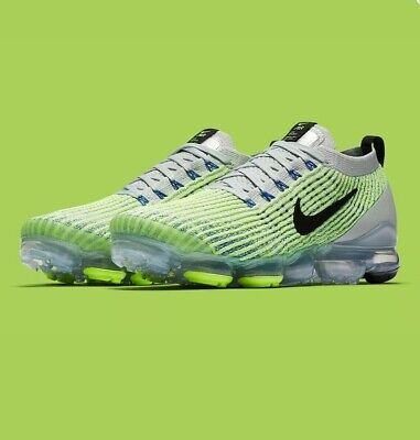 "Nike Air Vapormax Flyknit 3.0 ""Barely Volt"" (Aj6900 005) Trainers Uk 9 Eu 44"